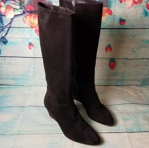 Marc Fisher  brown suede wedge tall boots  size 9M